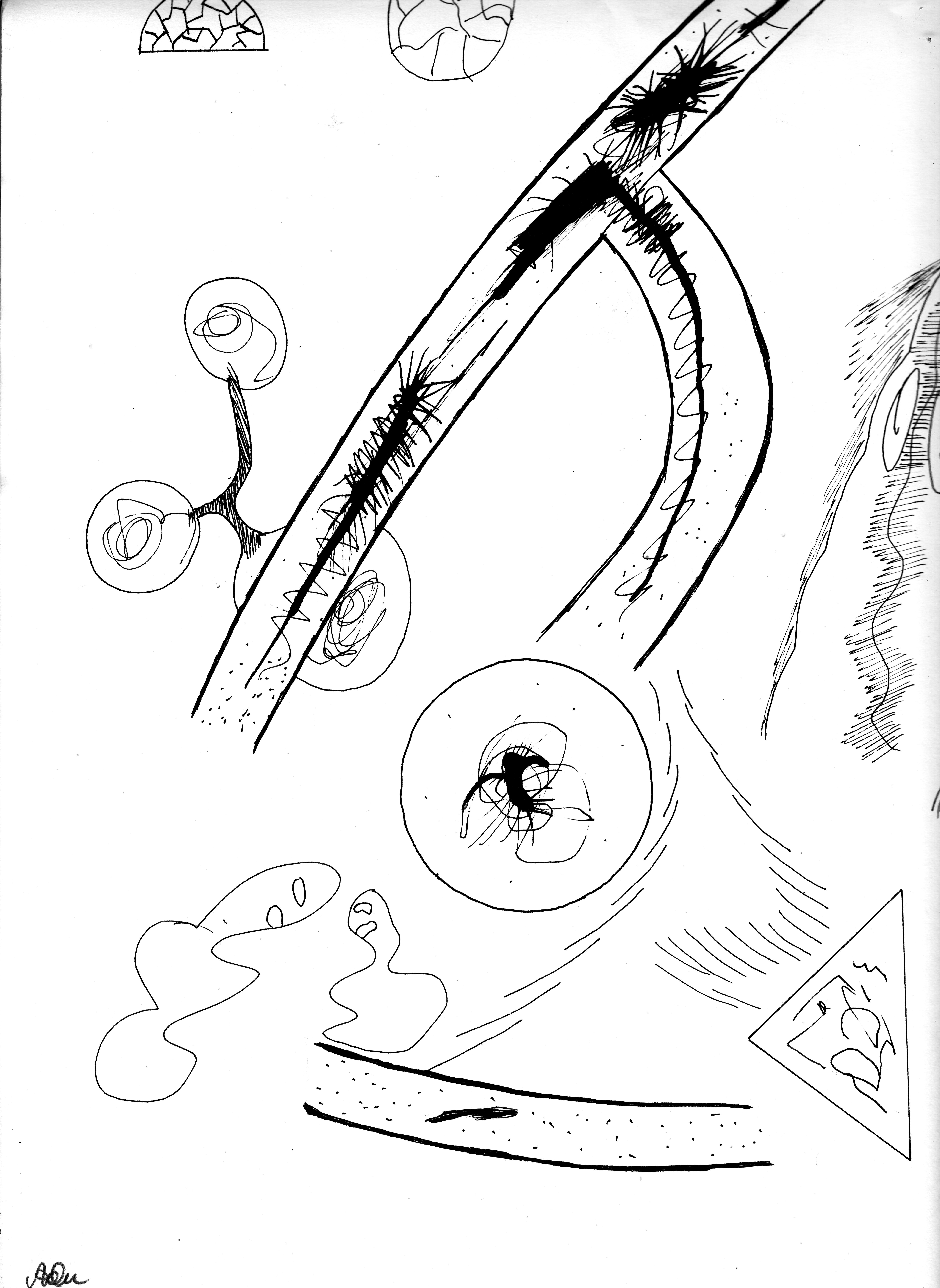 Schein und Wirklichkeit; Tusche; 1981; imachd.