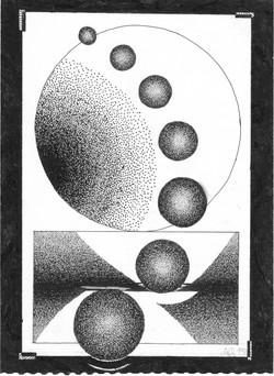 Planetengestirme; 1981; Tusche; imachd.