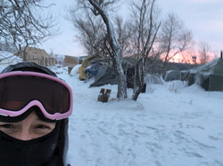 Sunset at Standing Rock Camp 12/2016