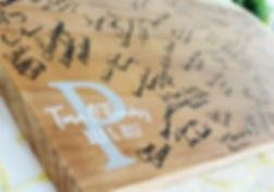 Guestbook signatue board