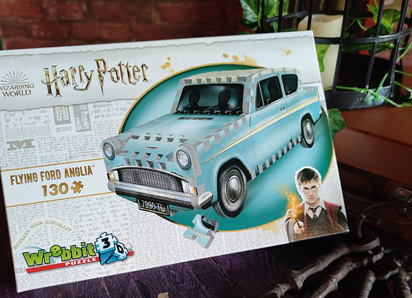 Flying Ford Anglia - 3D Jigsaw Puzzle