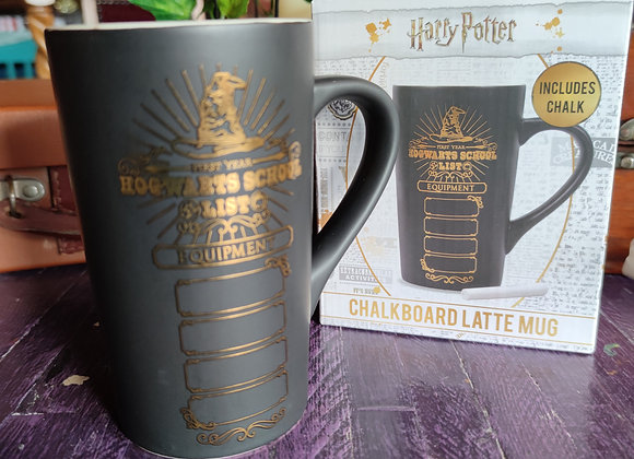 Harry Potter Chalkboard Latte Mug