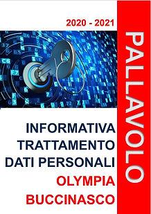COPERTINA INFORMATIVA TRATTAMENTO DATI P