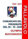 COMUNICATO DEL 29.10.2020