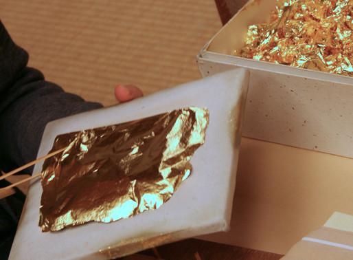 Gold Leaf decorating class Kanazawa