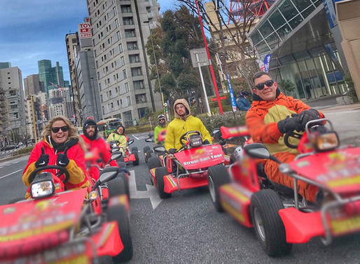 Race the streets of Tokyo Mario Kart Style