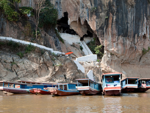 Pak ou Caves by Long Boat