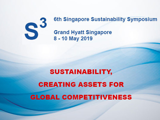 NanRise supported the 6th Singapore Sustainability Symposium (S3) 8 to 10 May 2019