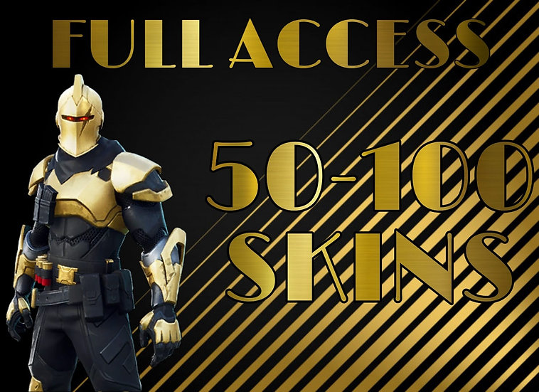 Fortnite Account | 50-100 PVP SKINS | Full access Email Bonus | Fast SHIPPING