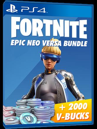 PS4 FORTNITE code: Epic Neo Versa Skin 2000 VBucks CODE EU/ARABIA