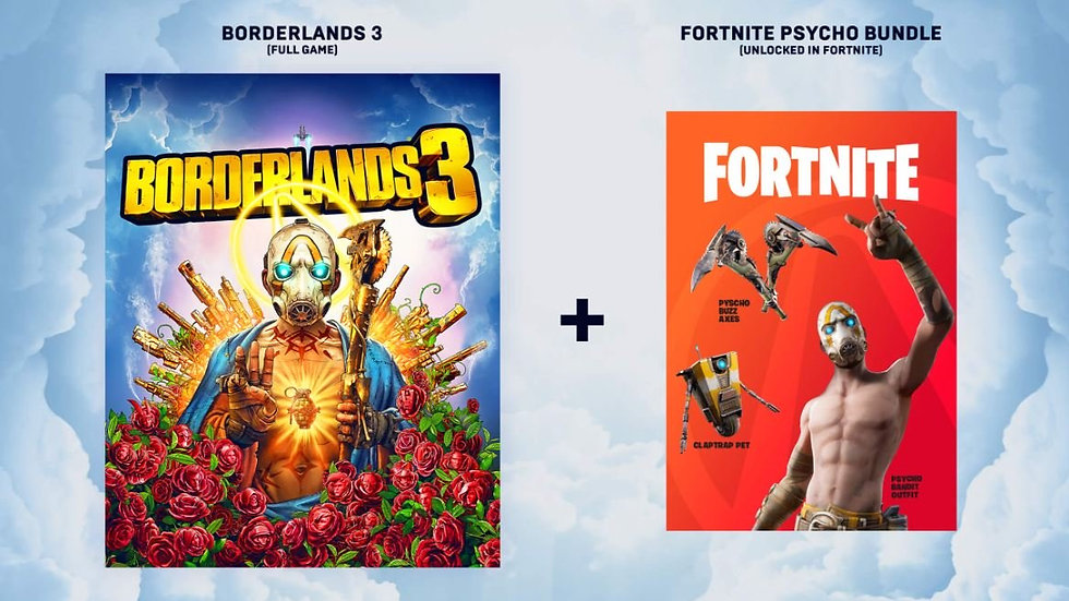 FORTNITE Psycho bundle pack + Borderlands 3 games as free RU