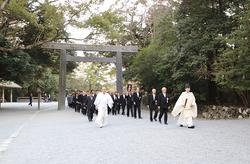 伊勢神宮内宮を誘導特別参拝