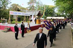 全国支部旗の入場行進