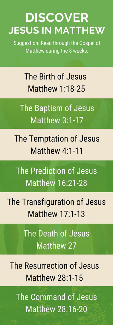 Jesus in Matthew - Discover Passage List
