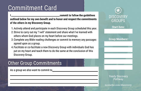 Yearly Commitment Card Back