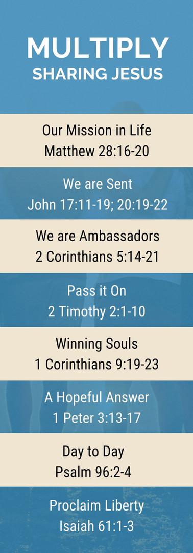 Multiply - Sharing Jesus - Passage List.