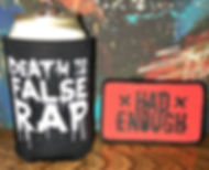 death to false rap koozie and patch.jpg