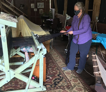 Wendy loves warping a loom!