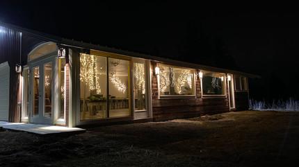 Exterior Meadow Hall Night