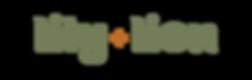 lily + lion logotype transparent backgro
