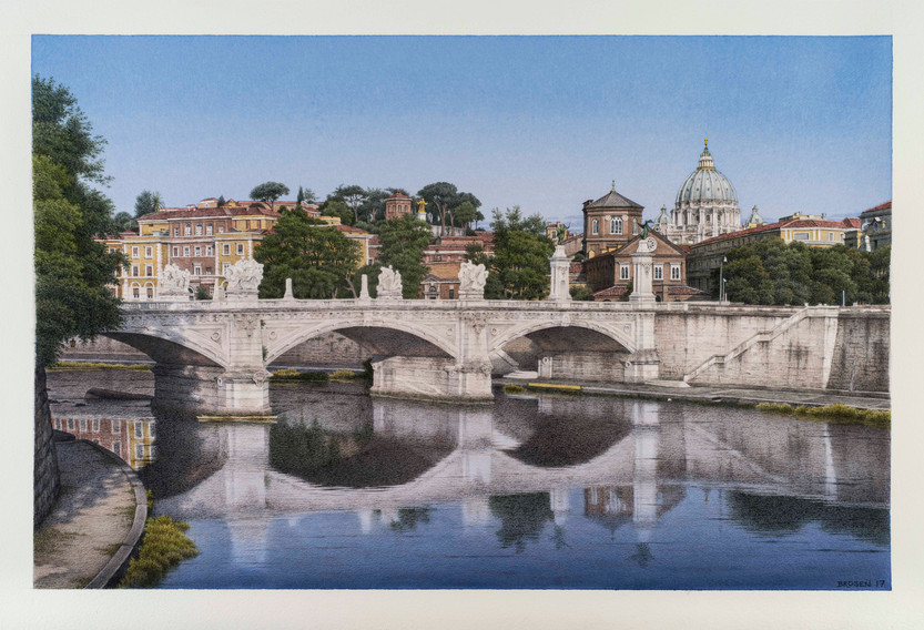 View from Ponte St. Angelo, 2017