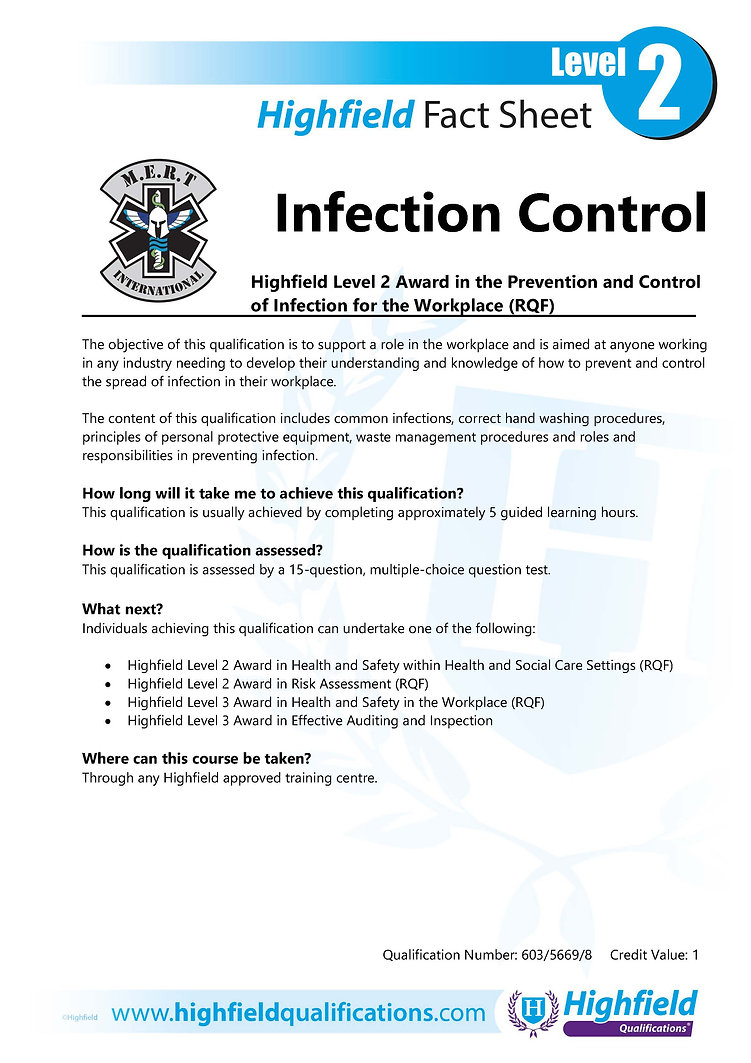 PRevention and control of infection for