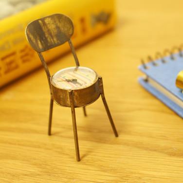 手作り置時計 Via Appia(Chair 模様)