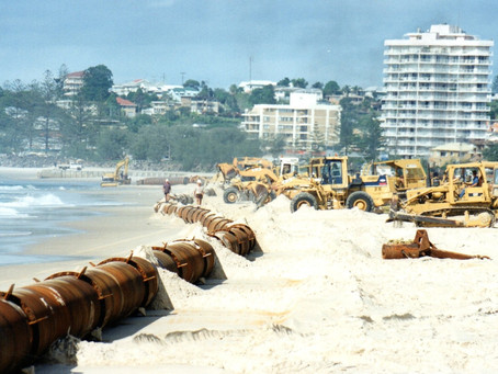 Tweed River Entrance and Beach replenishment project. April 1995 - June 1995