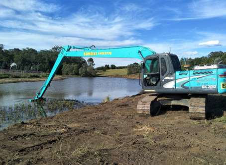Why Desilt Your Dam or Build One With Bonelli Plant Hire?