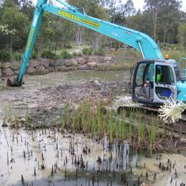 Bonelli Plant Hire Long Reach Excavator Hire