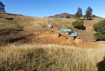 Digging a Dam with Bonelli Plant Hire Excavator Hire Caboolture