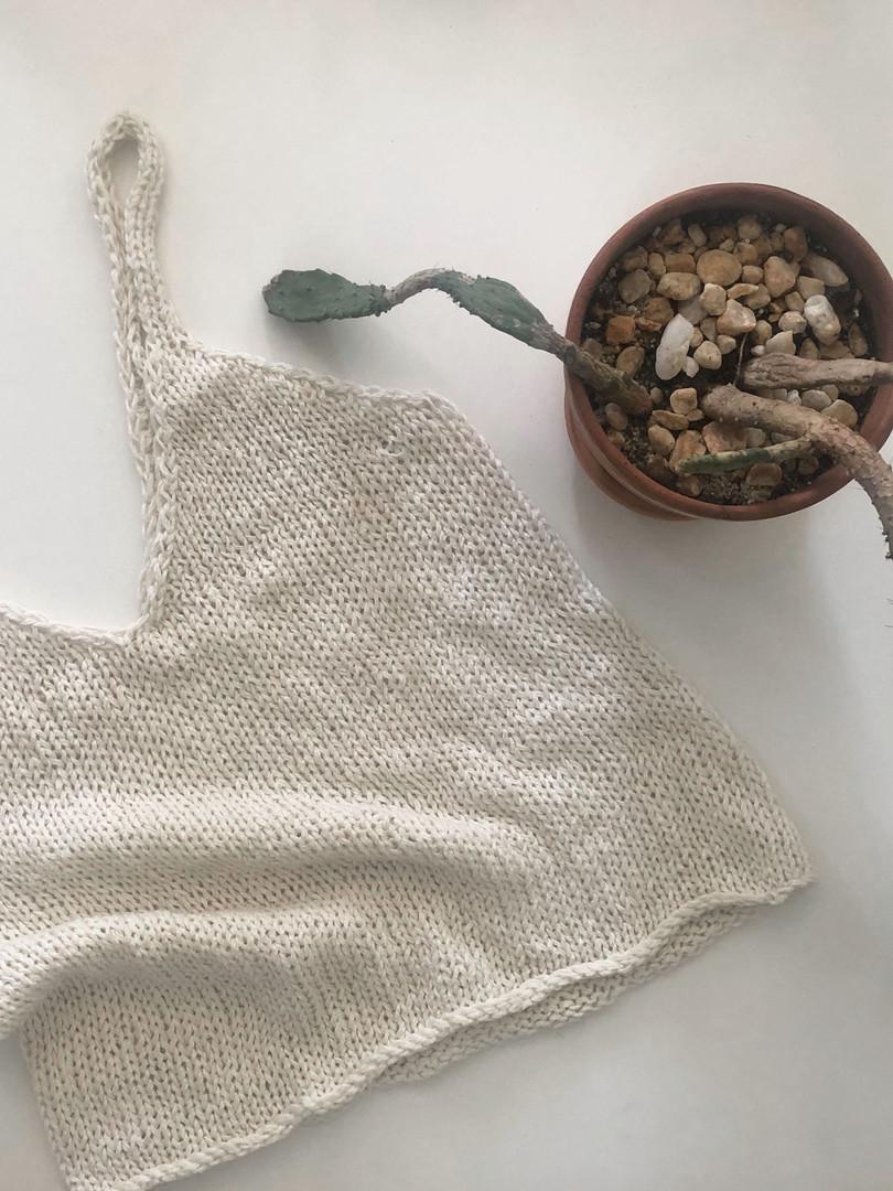 Hand Knit Tank Top