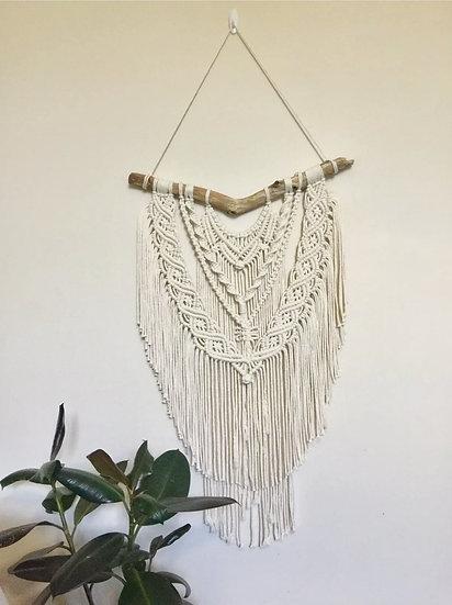 Macrame Wall Hanging Handwoven Bohemian Cotton Rope Boho Tapestry Home Art Decor
