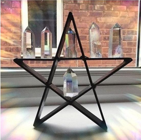 Black metal star display