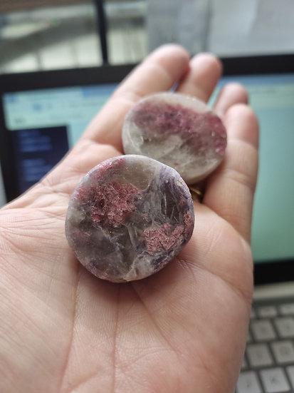 Pink Tourmaline in Lepidolite Ema Egg