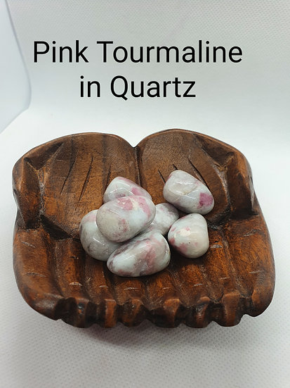 Pink Tourmaline in Quartz