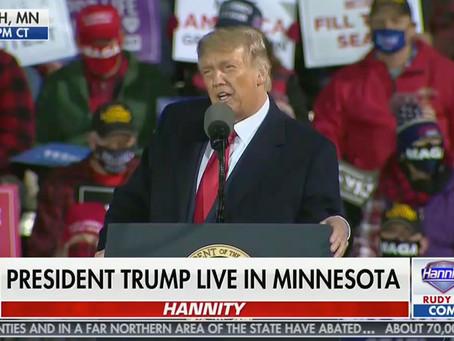 President Trump Roasts Fox News Debate Moderator Chris Wallace at Minnesota Rally