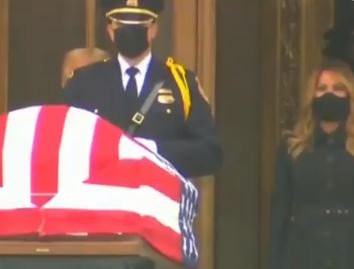 Unhinged Leftists Boo President Trump as He Pays His Respects to Justice Ginsberg[Video]