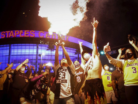 L.A Residents Riot After Lakers Win NBA Championships