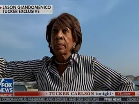 Maxine Waters Lectures Americans to Wear Mask in Public But Gets Caught Without One[Video]