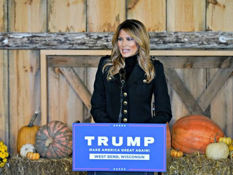 First Lady Melania Trump Tears into the Dishonest Media at Campaign Event