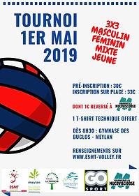Affiche tounoi 1 er mai 2019
