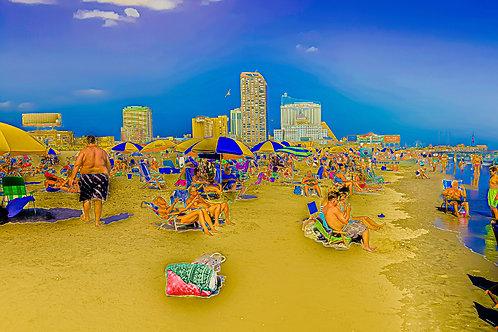 Beach Scene New Jersey