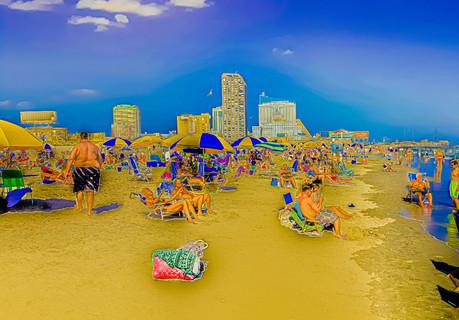 Beach Scene in NJ