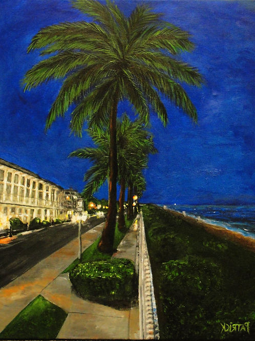 Palm Beach at Night