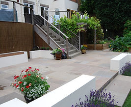 contemporary patio area