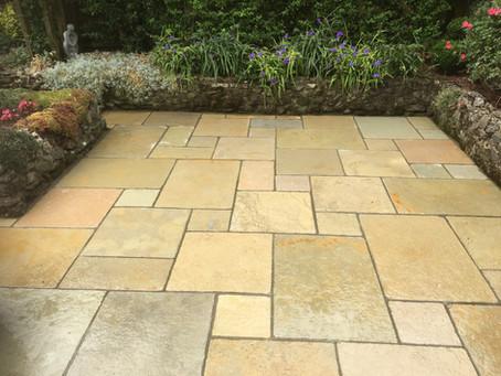 Beautiful new limestone paving