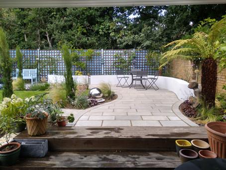 Completed garden in Blackheath