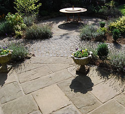 reclaimed yorkstone and granite setts