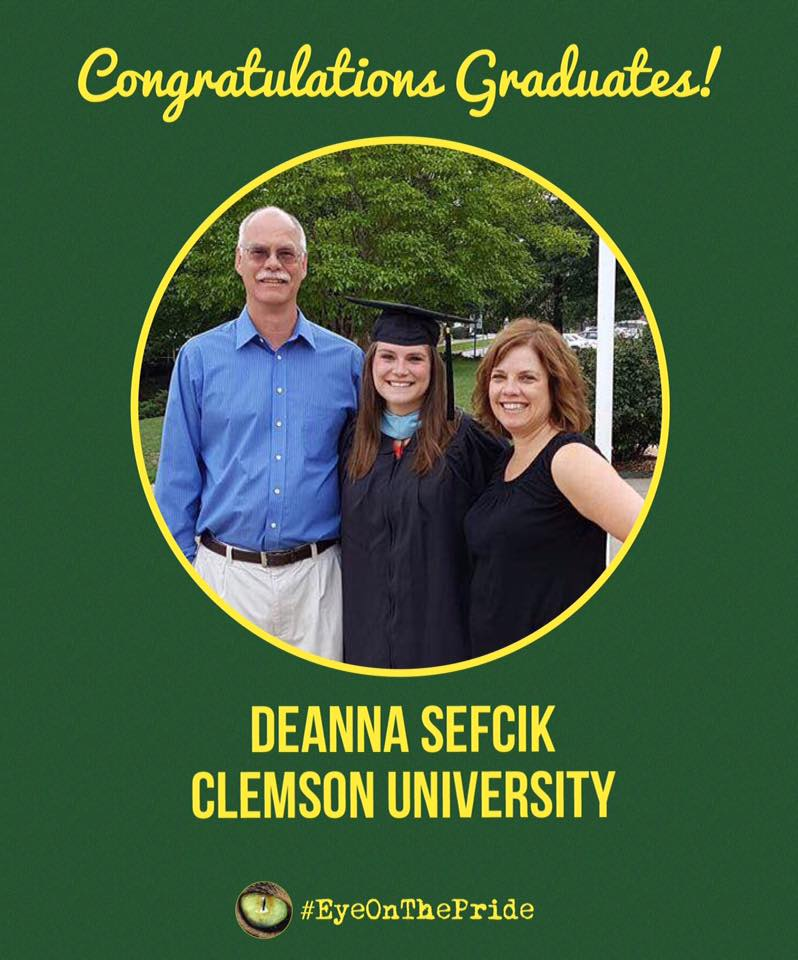 Congratulations to Deanna Sefcik (Cl